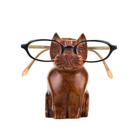 Handmade Cat Eyeglass Holder (India)