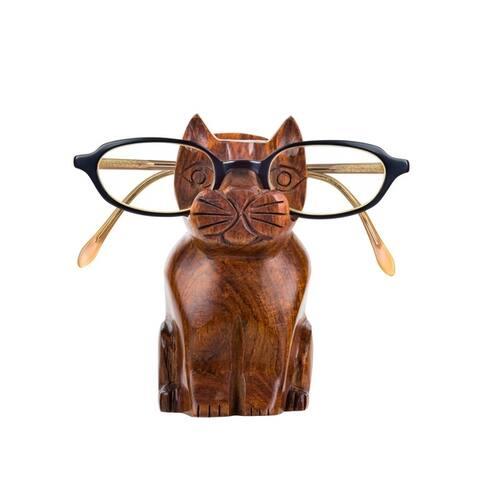 Handmade Cat Eyeglass Holder (India)