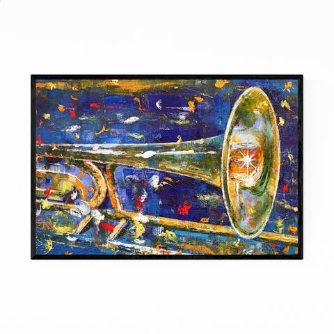 Noir Gallery Trombone Player Gift Music Framed Art Print