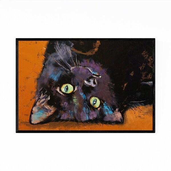 Noir Gallery Upside Down Kitten Cat Animal Framed Art Print