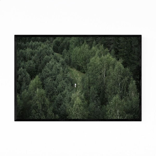 Noir Gallery Forest Aerial Landscape Nature Framed Art Print