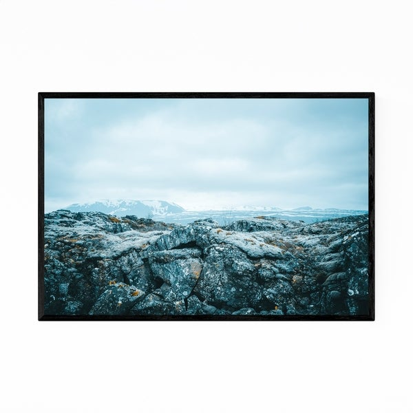 Noir Gallery Winter Landscape Iceland Nature Framed Art Print