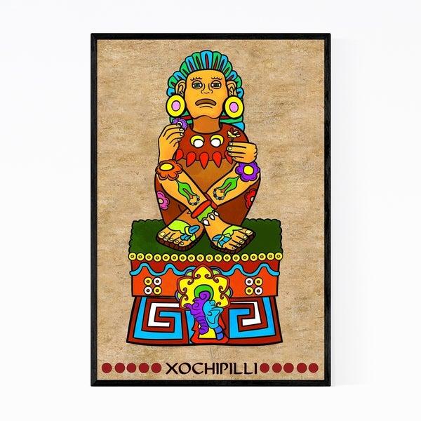 Noir Gallery Aztec God Mexican Mythology Framed Art Print