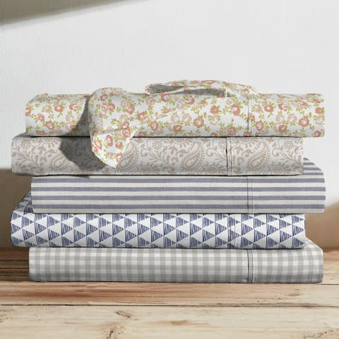 Brielle Printed Cotton Sheet Set