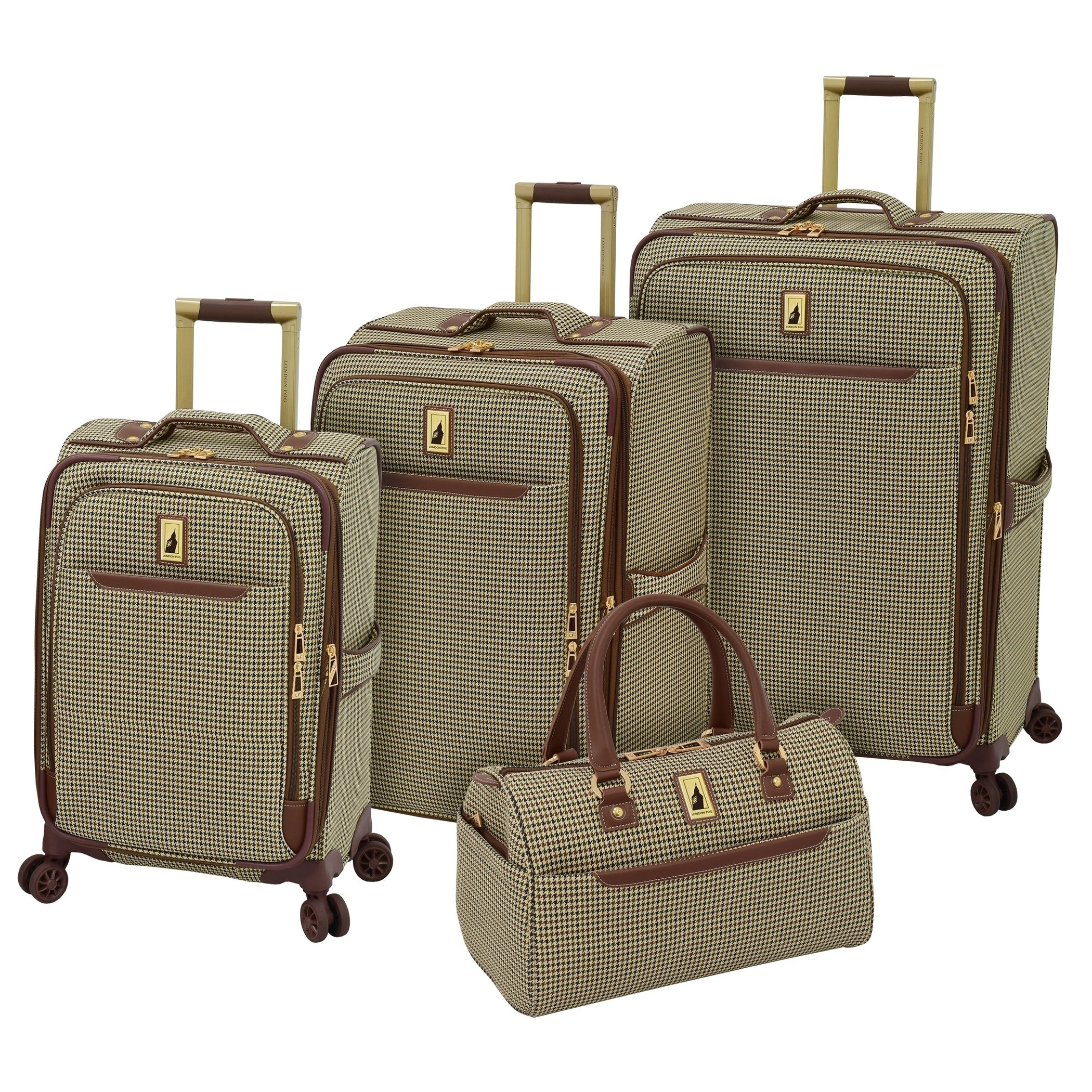 London Fog Cambridge 21 Inch Expandable Spinner Carry-on Olive