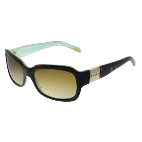 Ralph by Ralph Lauren RA 5049 601/T5 Womens Light Tort on Turquoise Frame Brown Gradient Polarized Lens Sunglasses
