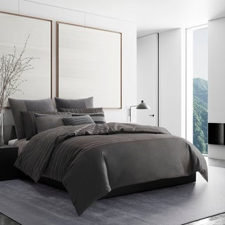 Vera Wang Shadow Stripe Cotton Duvet Cover and Coordinating Shams
