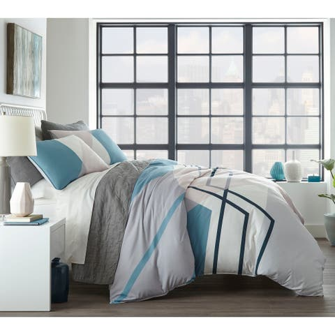 City Scene Thornton Blue Comforter Set