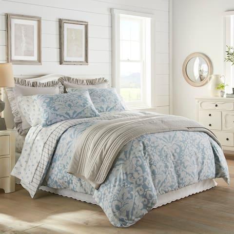 Stone Cottage Camden Blue Sateen Cotton Comforter Set