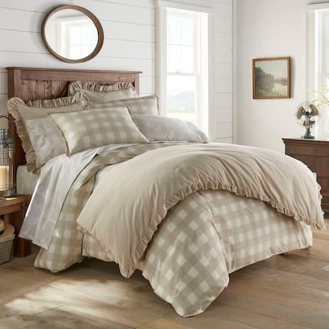 Stone Cottage Braxton Beige Cotton Comforter Set King Size (As Is Item)