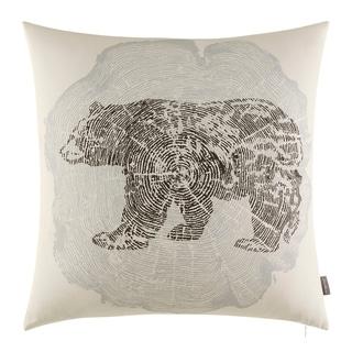 Eddie Bauer Crosscut Bear Grey Throw Pillow