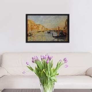 """iCanvas """"Grand Canal Venice"""" by Pierre-Auguste Renoir Framed Canvas Print"""