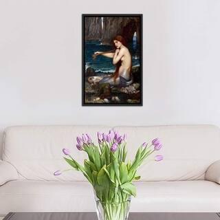 "iCanvas ""A Mermaid"" by John William Waterhouse Framed Canvas Print"