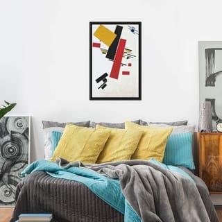 "iCanvas ""Dynamic Suprematism"" by Kazimir Severinovich Malevich Framed Canvas Print"