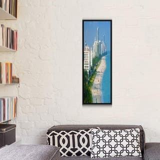 "iCanvas ""Miami Panoramic Skyline Cityscape"" Framed Canvas Print"