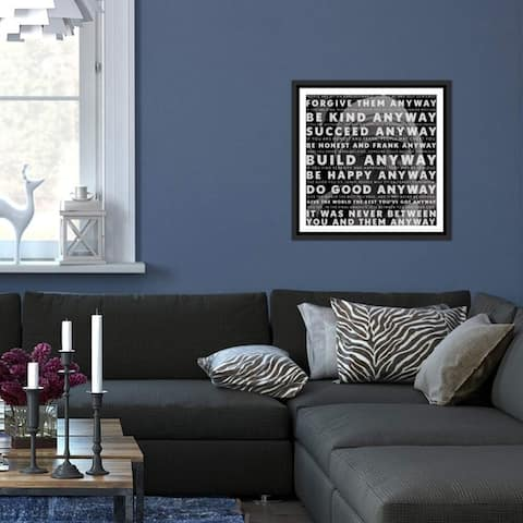 "iCanvas ""Mother Teresa Quote"" Framed Canvas Print"