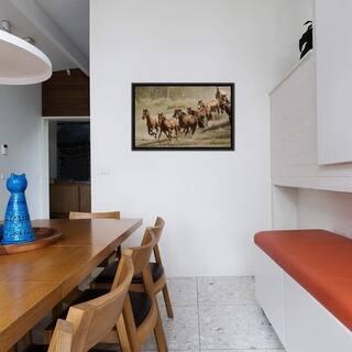 "iCanvas ""Western Ranch Wild Mustangs"" Framed Canvas Print"