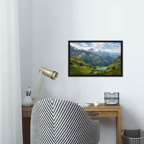 "iCanvas ""Swiss Alps Spring Mountain Landscape"" Framed Canvas Print"
