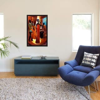 """iCanvas """"In A Sentimental Mood"""" by Keith Mallett Framed Canvas Print"""