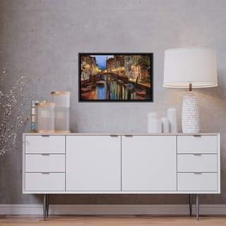 "iCanvas ""Alba a Venezia"" by Guido Borelli Framed Canvas Print"