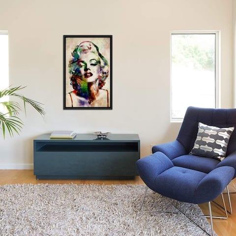 "iCanvas ""Watercolor Marilyn Monroe"" by Michael Tompsett Framed Canvas Print"
