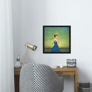 "iCanvas ""Metamorphosis In Blue"" by Duy Huynh Framed Canvas Print"