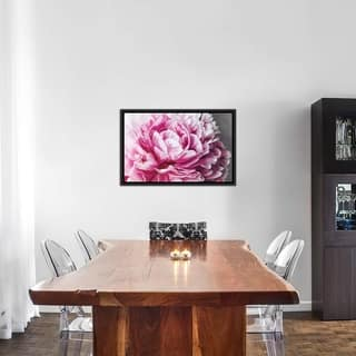 """iCanvas """"Peony Blush"""" by 5by5collective Framed Canvas Print"""