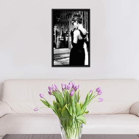 "iCanvas ""Audrey Hepburn Window Shopping I"" by Radio Days Framed Canvas Print"