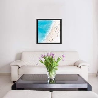 """iCanvas """"Aerial View Of Myrtos Beach V, Cephalonia, Ionian Islands, Greece"""" by Matteo Colombo Framed Canvas Print"""