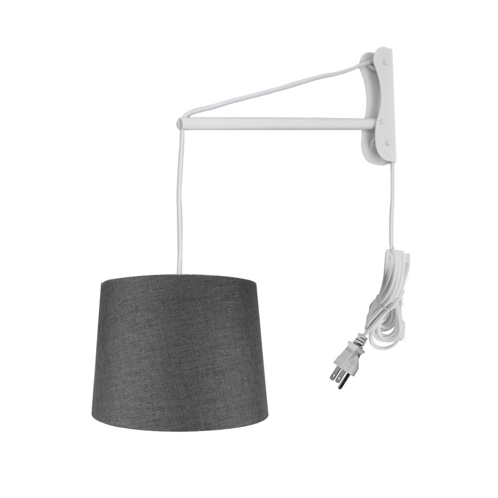 Wall Mount Pendant 2 Light White Cord