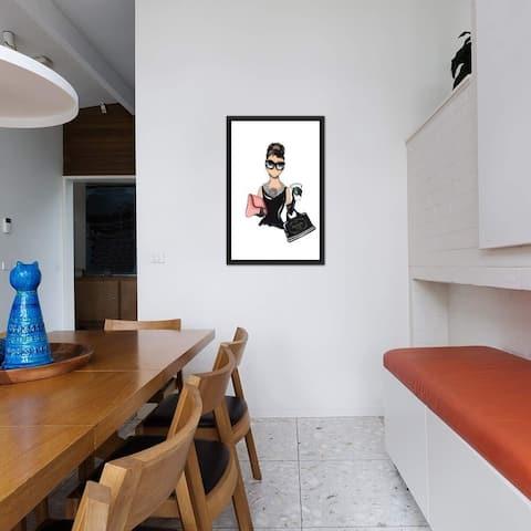 "iCanvas ""Audrey"" by Aaron Favaloro Framed Canvas Print"
