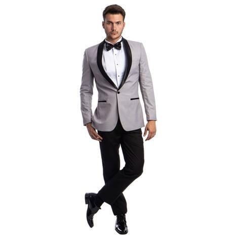 Slim Fit Tuxedo 2-Pc Shawl Collar Tuxedo for Men-All Occasion Tuxedo