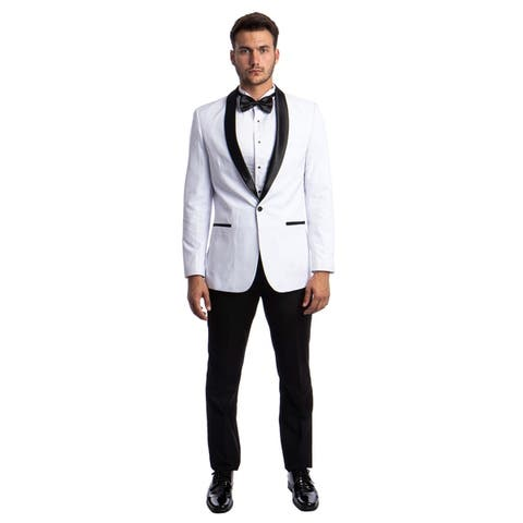 Slim Fit Tuxedo 2-Pc Shawl Collar Tuxedo for Men-All Occasion Tuxedo