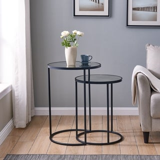 Holly & Martin Alcovy Metal Nesting Accent Tables, 2pc Set