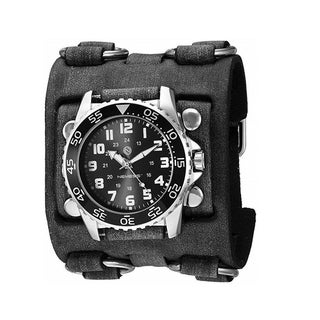 Link to Nemesis 'Hybrid' Super Glow Night Men's Diver watch with Vintage leather cuff band FWB257K Similar Items in Men's Watches