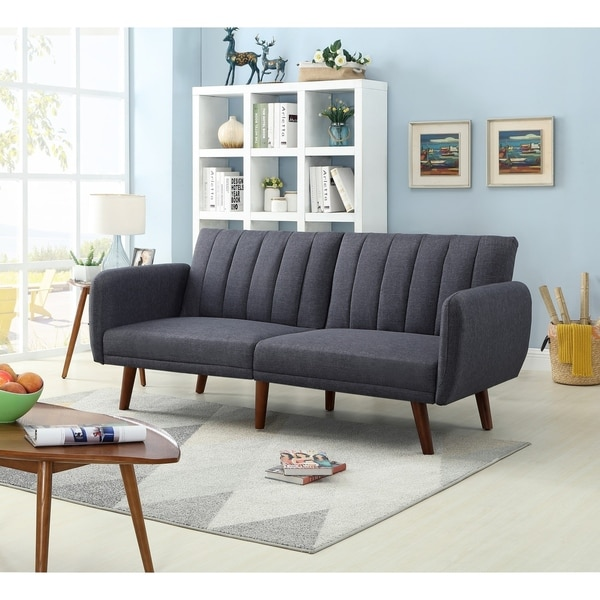 Shop Mid Century Fabric Upholstered Sofa Bed