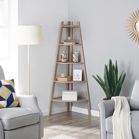 Carson Carrington Lado Free-Standing 5-Tier Corner Ladder Shelves