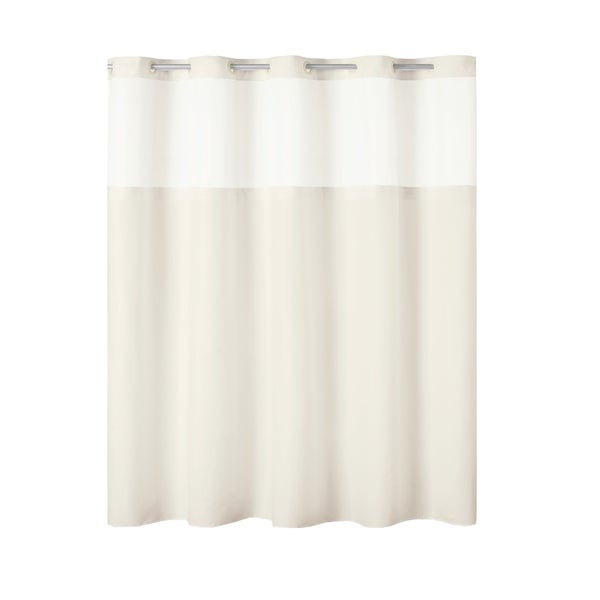 Hookless® Antigo Plain Weave Shower Curtain With Fabric Liner - Ivory