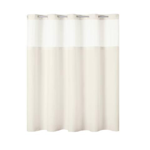 Hookless® Antigo Plain Weave Shower Curtain With Fabric Liner - Ivory