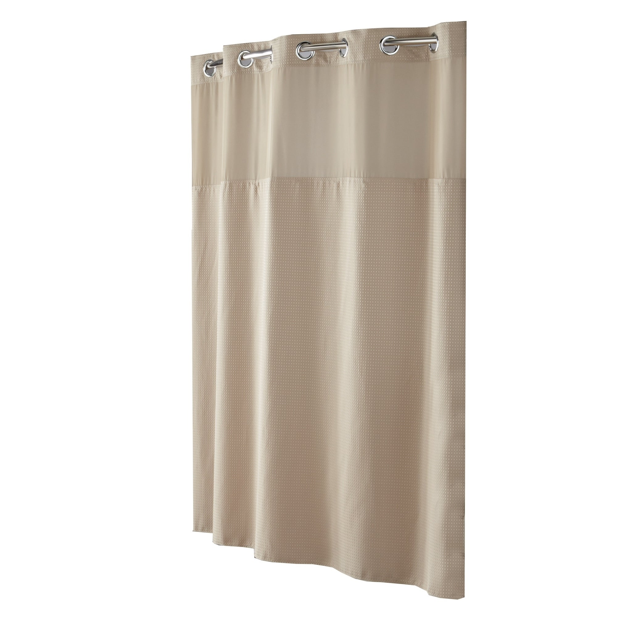 Hookless Waffle Shower Curtain With Peva Liner Taupe