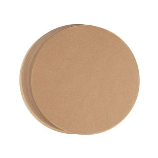 """100 Sheets 9"""" Non-Stick Round Parchment Baking Paper for Cake Pan Liners, Brown"""