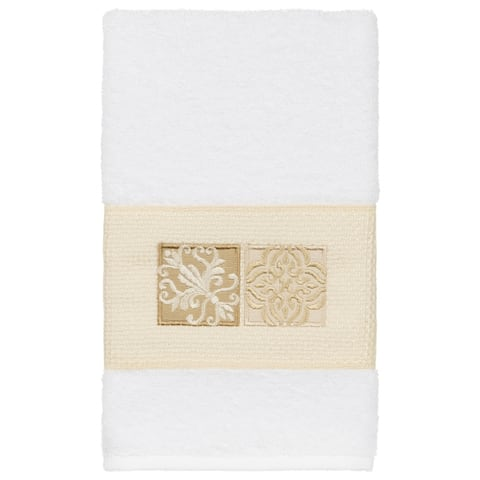 Authentic Hotel and Spa 100% Turkish Cotton Vivian Embellished Hand Towel