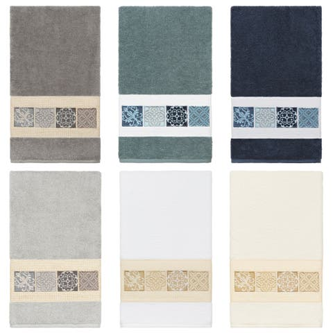 Authentic Hotel and Spa 100% Turkish Cotton Vivian Embellished Bath Towel