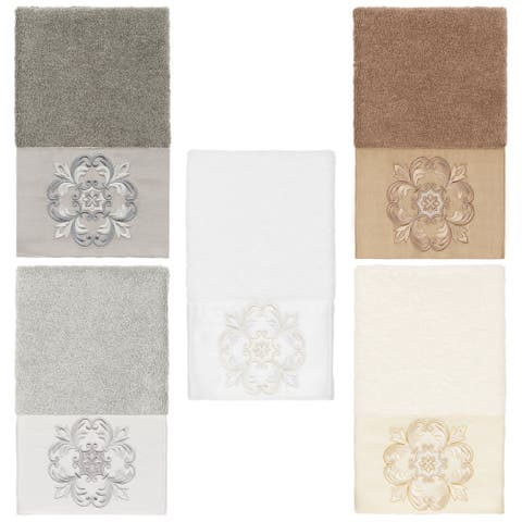 Authentic Hotel and Spa 100% Turkish Cotton Alyssa Embellished Hand Towel