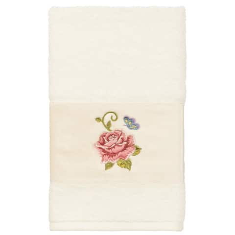 Authentic Hotel and Spa Turkish Cotton Rebecca Embellished Hand Towel