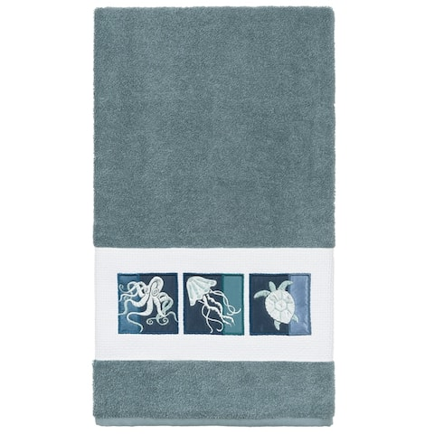 Authentic Hotel and Spa 100% Turkish Cotton Ava Embellished Bath Towel