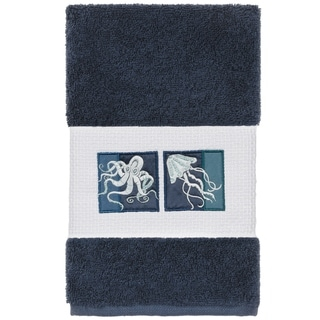 Authentic Hotel And Spa Authentic Hotel And Spa Textiles 100 Turkish Cotton Ava Embellished Hand Towel Midnight Blue From Overstock Com Shefinds
