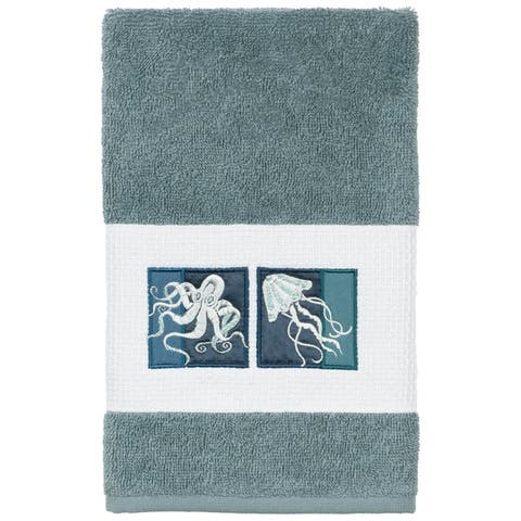 Authentic Hotel and Spa Textiles 100% Turkish Cotton Ava Embellished Hand Towel