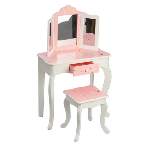 9d55fde8b9 Shop Teamson Kids - Fashion Twinkle Star Prints Gisele Play Vanity ...