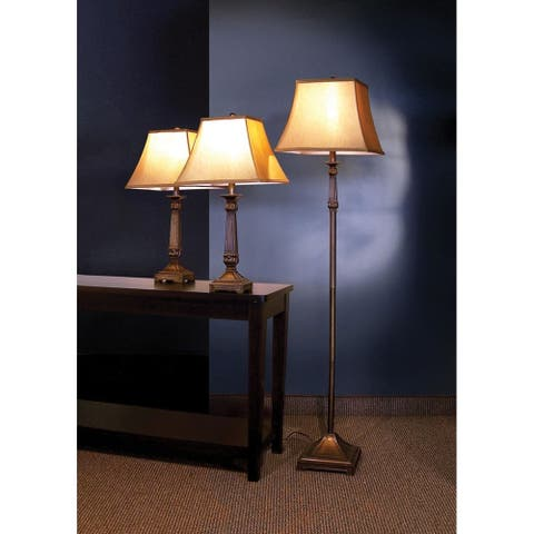 Tabitha Traditional Beige 3-piece Lamp Set